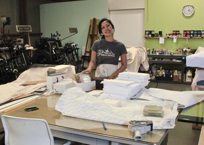 Mable at Lala Press